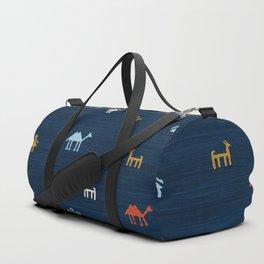 Jarmo in Blue Duffle Bag