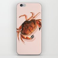 crab iPhone & iPod Skins featuring Crab by Trinity Mitchell