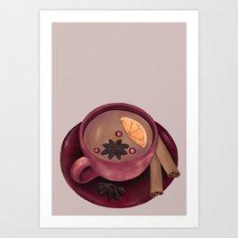 Warm Winter Tea Art Print