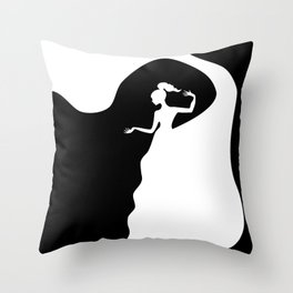 Beauty From Within BNW Throw Pillow
