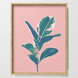 Ficus Elastica Finesse #3 #tropical #foliage #decor #art #society6 Serving Tray