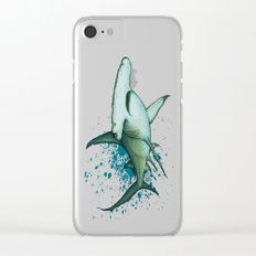 Great Hammerhead Shark ~ Watercolor Painting by Amber Marine Clear iPhone Case