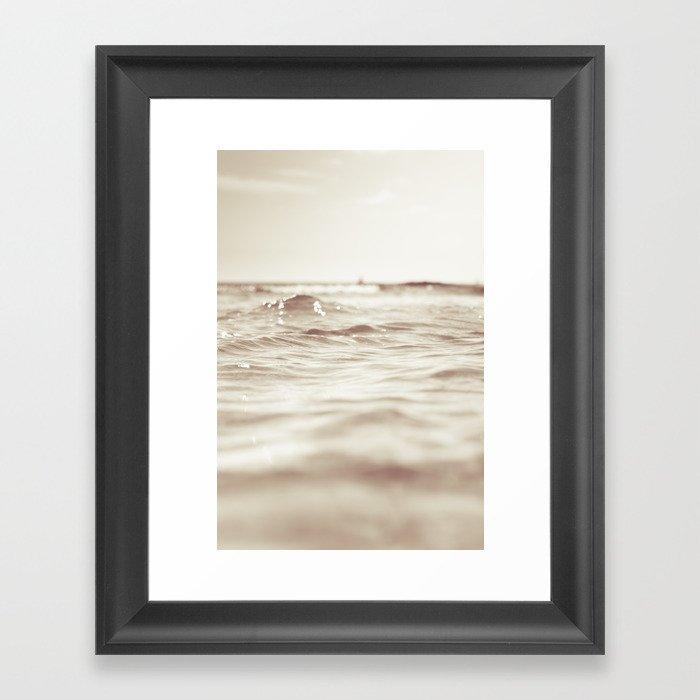 Let´s go to the bleech Framed Art Print
