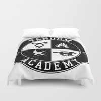 fandom Duvet Covers featuring Fandom Academy by Thg Fashion