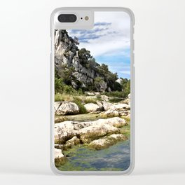 Gardon River in South of France in Summer Time Clear iPhone Case