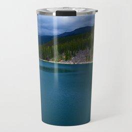 Horseshoe Lake in Jasper National Park, Canada Travel Mug