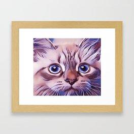 Birman The Blue Eyed Cat Framed Art Print
