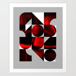Shapes in Red Art Print