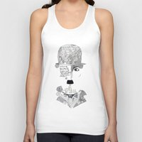chaplin Tank Tops featuring C. Chaplin by Ina Spasova puzzle