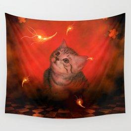 Cute little kitten Wall Tapestry
