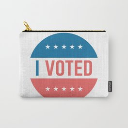 I voted sticker #society6 #decor #buyart #artprint Carry-All Pouch