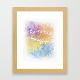 Perfectly Imperfect - Wabi-Sabi (white, blue, orange, yellow, purple) Framed Art Print