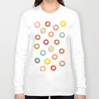 donuts Long Sleeve T-shirts featuring DONUTS by Wen Li T