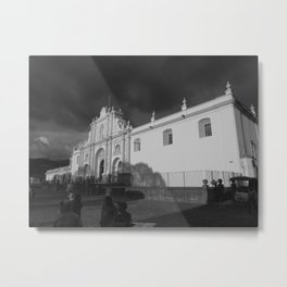 Antigua Guatemala Cathedral Metal Print