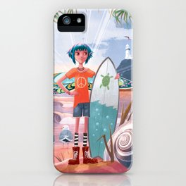 The Adventures of Lola and the Ocean Monster iPhone Case