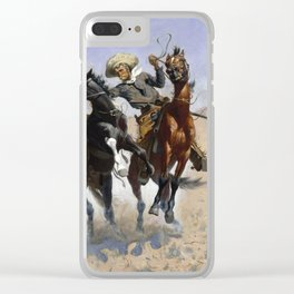 Frederic Remington - Aiding a Comrade, 1890 Clear iPhone Case