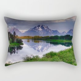 Mt. Moran at Oxbow Bend Rectangular Pillow