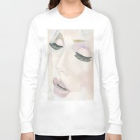 makeup Long Sleeve T-shirts featuring Makeup by Kim Ly
