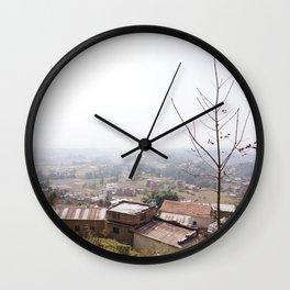 Nepalese Village Wall Clock