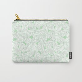 Leaves in Wintergreen Carry-All Pouch