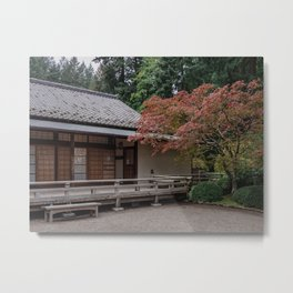 Fall colors in the garden Metal Print