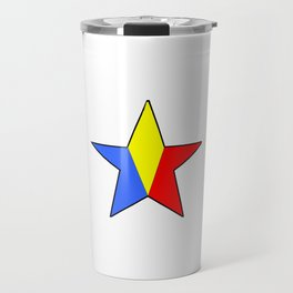 Flag of romania 6 -romania,romanian,balkan,bucharest,danube,romani,romana,bucuresti Travel Mug