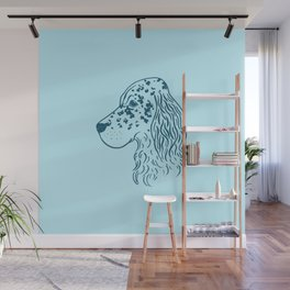 English Setter (Light Blue and Blue) Wall Mural