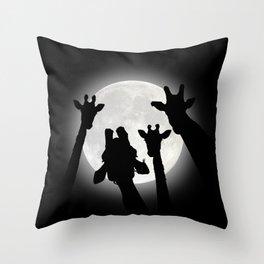 Moonlight Selfie Throw Pillow