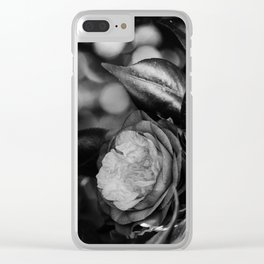 Camellia Black and White 2 Clear iPhone Case