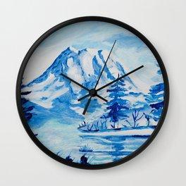 Winter Mt. Rainier Wall Clock