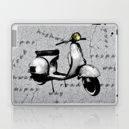White Vespa Scooter Laptop & iPad Skin