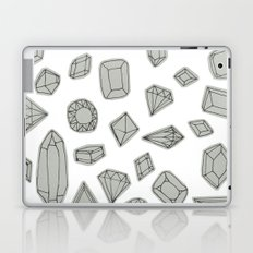 doodle crystals on white Laptop & iPad Skin