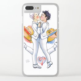Charm Design B Clear iPhone Case