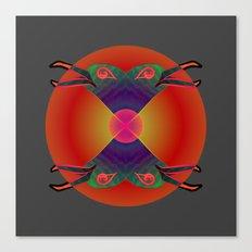 Red Kiss / Love Symbol / Pattern 12-01-17 Canvas Print