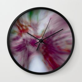 Tie-Dye (abstract created from blooming redbuds) Wall Clock