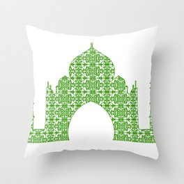 Taj Mahal Art Throw Pillow
