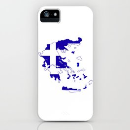 Greece Map Flag iPhone Case