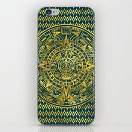 Gold  Aztec Inca Mayan Calendar iPhone Skin