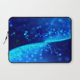 Blue Glitter Wave Laptop Sleeve