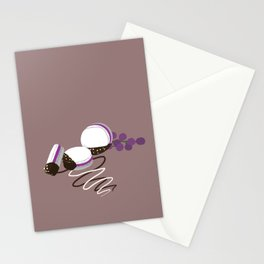 chocolate dipped macarons Stationery Cards