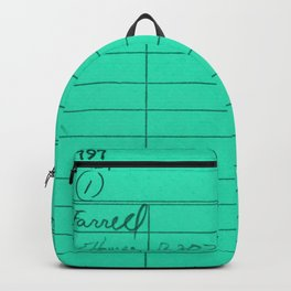 Library Card 797 Turquoise Backpack