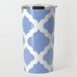 Blue rombs Travel Mug