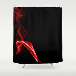 Red Three Shower Curtain