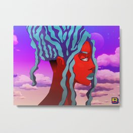 Head in the Clouds (Sunset) Metal Print