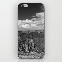 North_Rim Grand_Canyon, AZ - B&W I iPhone Skin