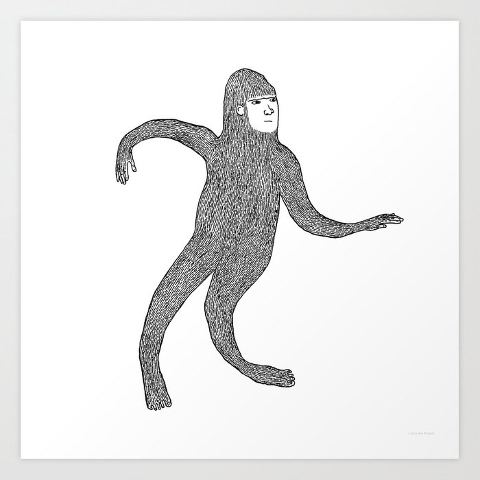 Bigfoot Doing The Wave Kunstdrucke