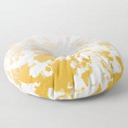 Essie - abstract minimal gold painting metallics home decor minimalist hipster Floor Pillow