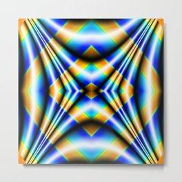 Drape - Blue Metal Print