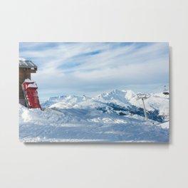 Mountain rescue station Metal Print