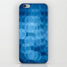 circles light blue iPhone Skin